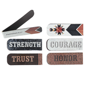 Salt & Light, Textured Background Magnetic Bookmarks, 1 Each of 6 Designs, 4 3/4 x 2 inches Each