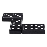 Teacher Created Resource, Foam Dominoes Black, Kindergarten and Older, 28 Pieces