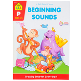 School Zone, Beginning Sounds Deluxe Edition Workbook, Get Ready, Paperback, 64 Pages, Preschool Ages 3-5