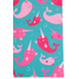 Printed Pink and Blue Narwhals Felt Rectangle, 9 x 12 Inches, 1 Piece