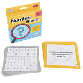 Number Sleuth Cards, 60 Math Challenges on Dry-Erase Cards, Grades 2-3