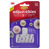 3M, Command Adjustables Repositionable Hooks, Clear, Set of 6