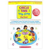 Scholastic, Circle Time Sing-along Flip Chart with Free Song Download, Spiral, Grades PreK-1