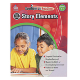 Carson-Dellosa, Story Elements Resource Book, Spotlight on Reading, Reproducible Paperback, Grades 5-6