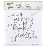 Sincere Surroundings, Together Beautiful Pillow Hugs, Cover, Cotton, 35.25 x 7.25 Inches