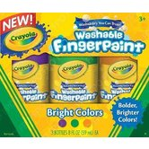 Crayola Washable Fingerpaint, Bright Colors, Violet, Green, Orange