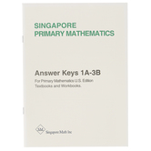 Singapore Math Primary Math Answer Key Booklet 1A-3B US Edition