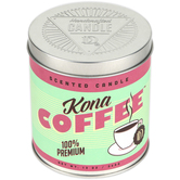 Darsee & David's, Kona Coffee Scented Candle Tin, 13.2 Ounces