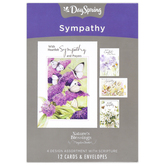 DaySpring, Marjolein Bastin Nature's Blessings Boxed Sympathy Cards, 12 Cards with Envelopes