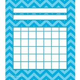 Teacher Created Resources, Chevron Incentive Charts, 5.25 x 6 Inches, Aqua, 36 Sheets