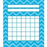Teacher Created Resources, Chevron Incentive Charts, 5.25 x 6 Inches, Aqua, 36 Sheets