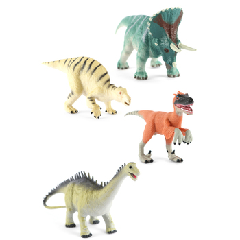 Dinosaur Collection Figures, 1 Each of 4 Dinosaurs