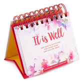 DaySpring, It Is Well One-Minute Devotions Perpetual Calendar, Paper, 5-1/2 x 5-1/4 x 1-1/4 inches