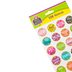 Teacher Created Resources, Confetti Motivational Stickers, Round, Multi-Colored, Pack of 120