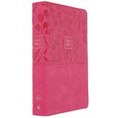 NKJV Personal Size Reference Bible, Large Print, Imitation Leather, Pink