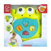Hape, Feed Me Bath Frog, 6 Pieces, 10 x 10 1/2 inches, Ages 12 Months and Older