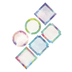 Retro Chic Collection, Jumbo Cutouts, 10-Inch Squares, 6 Assorted Designs, 12 Pieces
