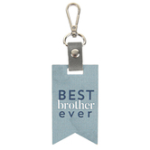 P. Graham Dunn, Best Brother Ever Key Chain, Wood and Metal, Blue, 2 x 6 1/2 inches