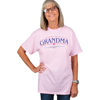 Red Letter 9, Blessed to be a Grandma, Women's Short Sleeve T-Shirt, Pink, S-3XL