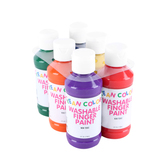 RichArt, Washable Finger Paint, 4 ounce bottles, Assorted Primary Colors, 6 count