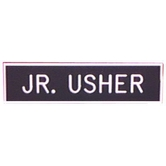 Swanson, Jr. Usher Badge (Safety Catch), 2 x 1/2 inches