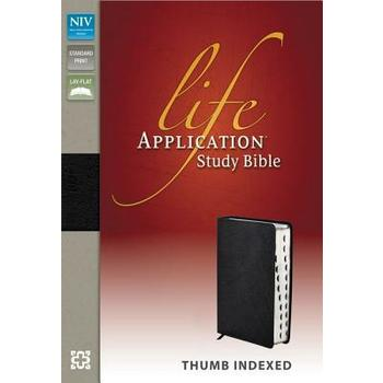 NIV Life Application Study Bible, Bonded Leather, Thumb Indexed, Multiple Colors Available