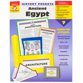 Evan-Moor, History Pockets Ancient Egypt Teacher Reproducible, Paperback, 96 Pages, Grades 4-6
