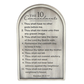 Dicksons, Exodus 20:3-17 Ten Commandments Auto Visor Clip, Zinc Alloy, Brushed Silver, 2 3/4 x 1 5/8 inches