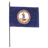 Annin Flagmakers, Virginia State Flag, Polyester, 8 x 12 inches