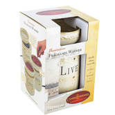 Candle Warmers, Live, Love, Laugh Full-Sized Wax Warmer, Ceramic, Cream