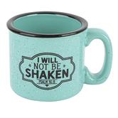 Dexsa, Psalm 16:8 I Will Not Be Shaken Campfire Coffee Mug, Ceramic, Aqua, 15 ounces