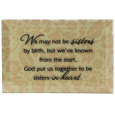 Dexsa, Sisters - Glass Plaque, Gold, 4 x 6 Inches