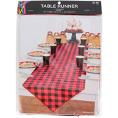 Lumberjack Buffalo Check Table Runner, Red/Black, 88 x 18 Inches