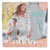 Infantino, Flip 4-In-1 Light & Airy Convertible Baby Carrier, Gray & Teal, 9 3/4 x 10 inches