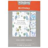 DaySpring, Camping Fun Boxed Birthday Cards, 12 Cards with Envelopes