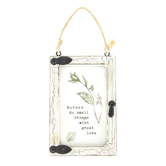 Ganz, Nurses Do Small Things With Great Love Mini Window Ornament, 2 1/2 x 1/2 x 3 3/4 inches