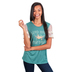 Southern Grace, Lord Have Mercy, Women's Lace Short Sleeve T-shirt, Teal and Cream, Small