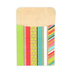 TooCute Collection, Self-Adhesive Library Pockets, 3.5 x 5.25 Inches, Multi-Colored, Pack of 25