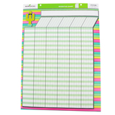 Renewing Minds, Customizable Incentive Chart, Cactus Stripes, Pastels, 17 x 22 Inches