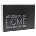 Welcome to Our Home Please Leave By 9 Metal Wall Décor, Black and White, 8 x 6 x 2 inches