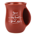 LCP Gifts, Psalm 4:7 Grateful Handwarmer Coffee Mug, Ceramic, Orange, 14 ounces