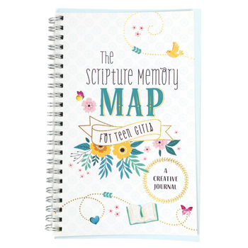 Barbour Books, The Scripture Memory Map For Teen Girls: A Creative Journal, White, 176 Pages