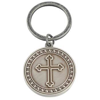Dicksons, Philippians 4:13 Man of God Key Ring, Silver, 2 inches