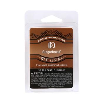 D&D, Gingerbread Scented Wax Melts, 6 Cubes, 2 1/2 ounces