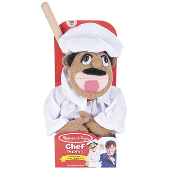 Melissa & Doug, Realistic Chef Puppet, 15 x 5 x 6 1/2 inches, Ages 3 and Older