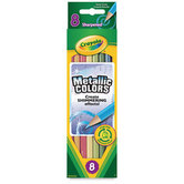 Crayola, Metallic Colored Pencils, 8 Count