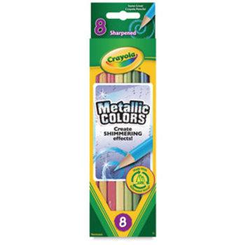 Crayola, Metallic Colored Pencils, 8 Count