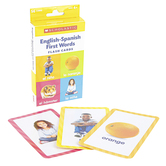 Scholastic, English-Spanish First Words Flash Cards, 3 1/4 x 6 1/4 inches, 56 Cards