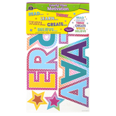 Teacher Created Resources, Colorful Vibes Motivation Bulletin Board Set, 57 Pieces