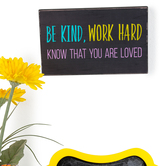 Retro Chic Collection, Be Kind Work Hard...Desk or Wall Decor, 9 x 5 Inches